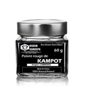 POIVRE Poivre rouge de KAMPOT 60 g