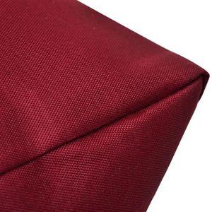 COUSSIN Coussin pour le Dos 80 X 40 X 20 Cm Rouge Vineux -