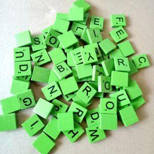 JETON DE JEU 100pcs lettres de l'alphabet en bois Verde
