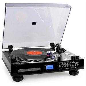 CHAINE HI-FI Auna TT-1200 Platine vinyle lecteur CD USB SD