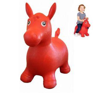 BALLON - BÂTON SAUTEUR Ballon sauteur cheval enfant rouge pogo jouet bébé