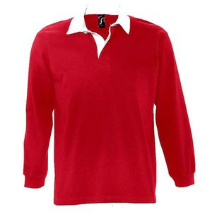 POLO Polo rugby manches longues HOMME - 11313 - rouge