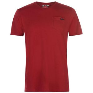 T-SHIRT Lee Cooper Essentials Pocket Homme T-Shirt Col Ron