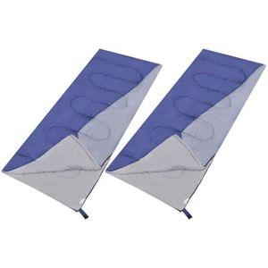SAC DE COUCHAGE Lot de 2 sacs de couchage légers rectangulaires
