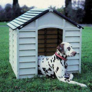 NICHE Niche pour chien en PVC 78 x 84 x h60/80 cm 50-70