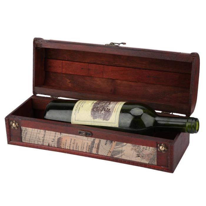 Coffret vin Vintage en bois vin rouge Champagne boîte de rangement de vin rouge bouteille unique emballage boîte