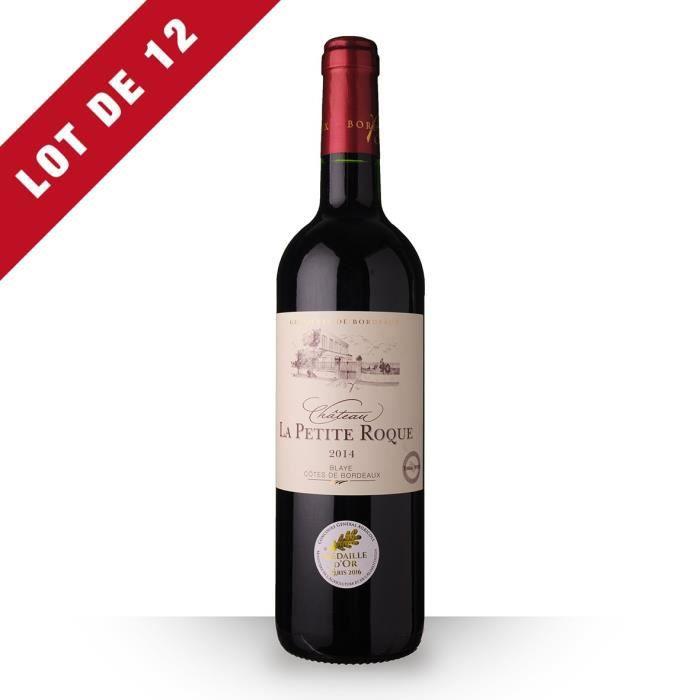 12X Château la Petite Roque 2014 Rouge 75cl AOC Côtes de Bordeaux Blaye - Vin Rouge