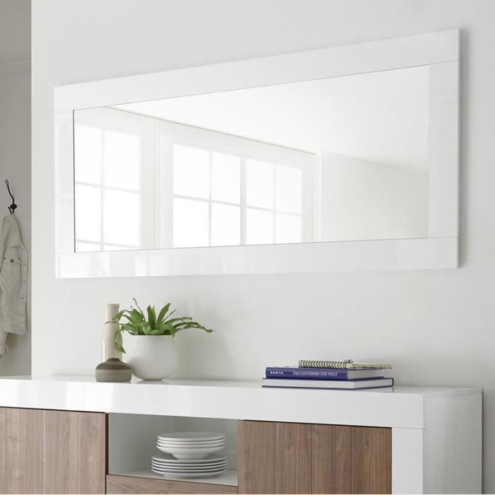 Grand miroir mural blanc laqué URBAN Blanc L 170 x P 5 x H 52 cm