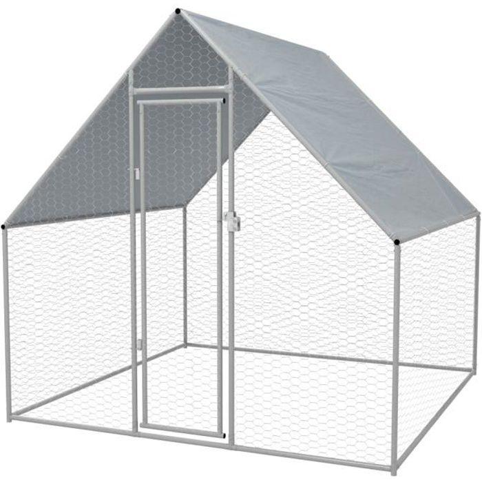 🍓3564Grand Clapier Poulailler d'extérieur Enclos - Design SOLIDE & Chic - Cage extérieure pour poulets Enclos pour lapin petits ani