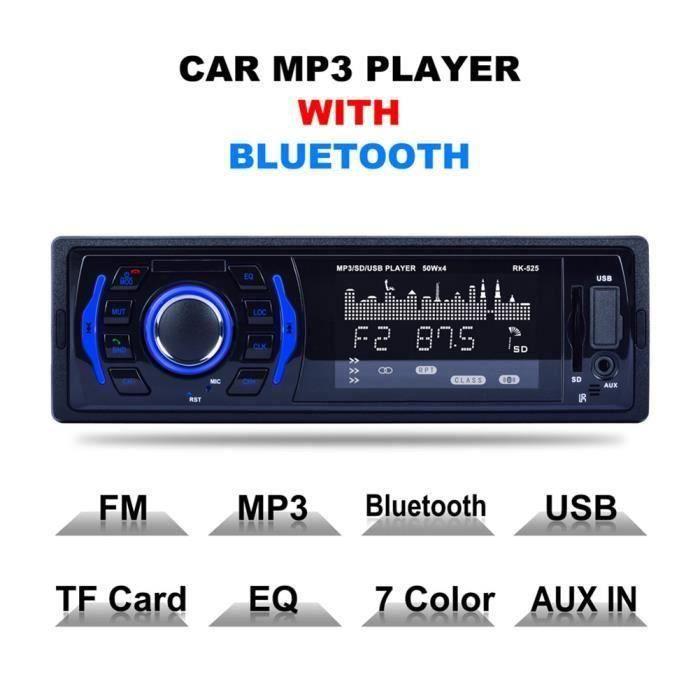JL Autoradio Sans Fil Bluetooth Mp3 Rk-525 Stéréo Car Audio Mains Libres Voiture Lecteur Usb-Sd-Fm Multimedia .... - JLCYD821CA3651