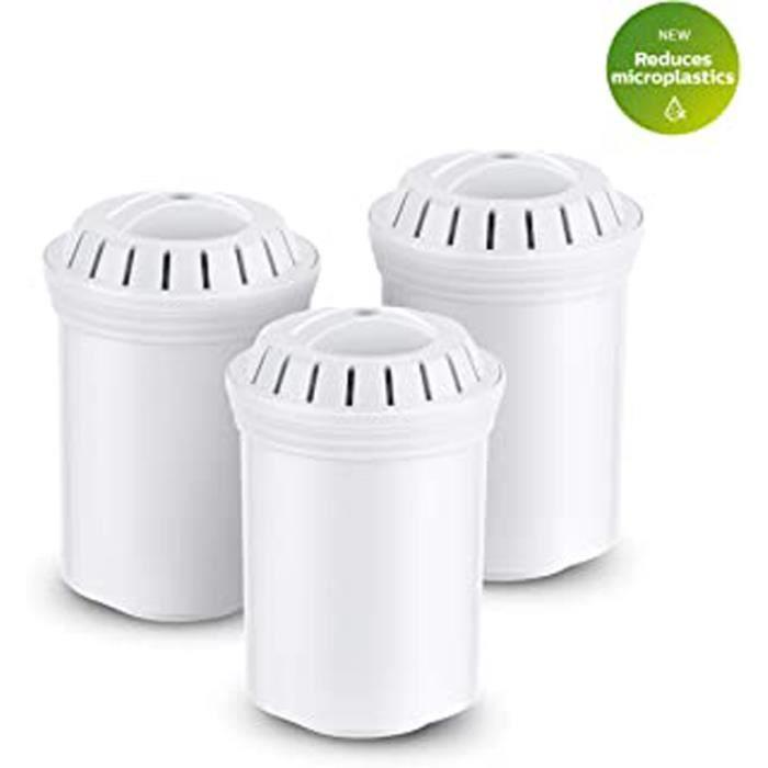 3 Cartouches De Rechange Pour Carafe Filtrante Awp201 - Microfiltration Calcaire, Chlore, Plomb Et Pesticides.
