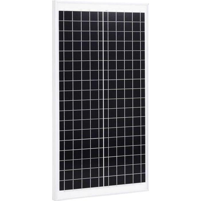 Panneau solaire 30 W Polycristallin Aluminium Verre de sécurité