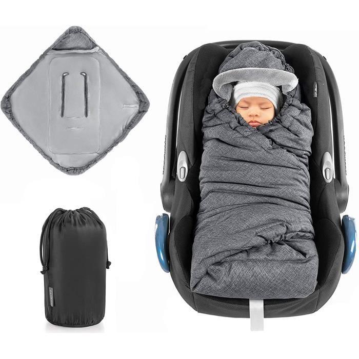 Zamboo - Couverture enveloppante pour siège auto par ex. Bébé Confort, Cybex, Kiddy) - Nid d'ange cosy rembourré et douillet pour co