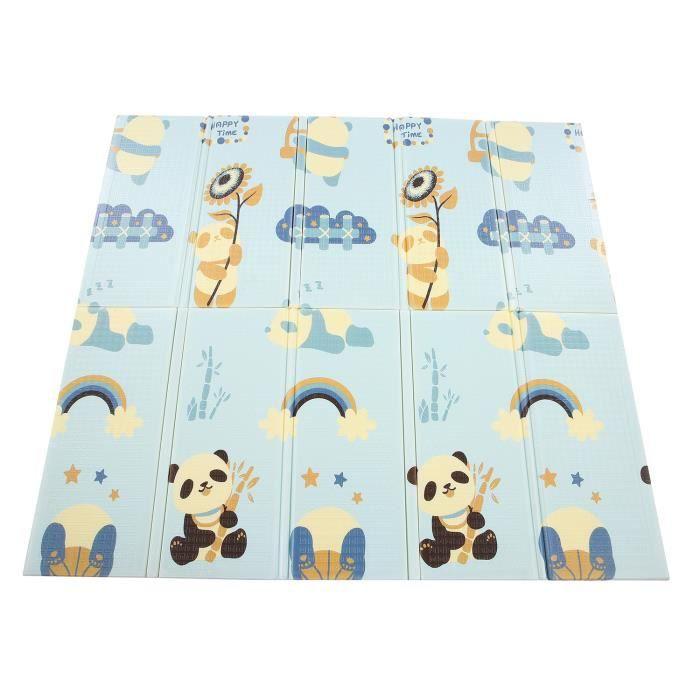 Tapis de Jeu pour Bébé, Tapis d'eveil Pliable Imperméable Non Toxique pour Enfant, 200x180x1.5 cm Tapis avec l'Image des Pandas