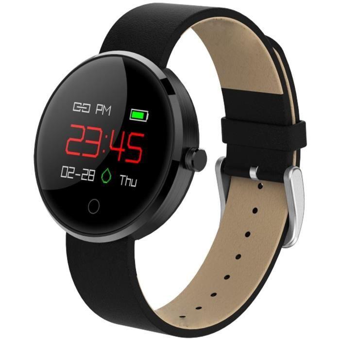 Bracelet montre connecté, 0.95 pouces écran Oled Bluetooth étanche etc.. Android et Apple Ios (Gris)
