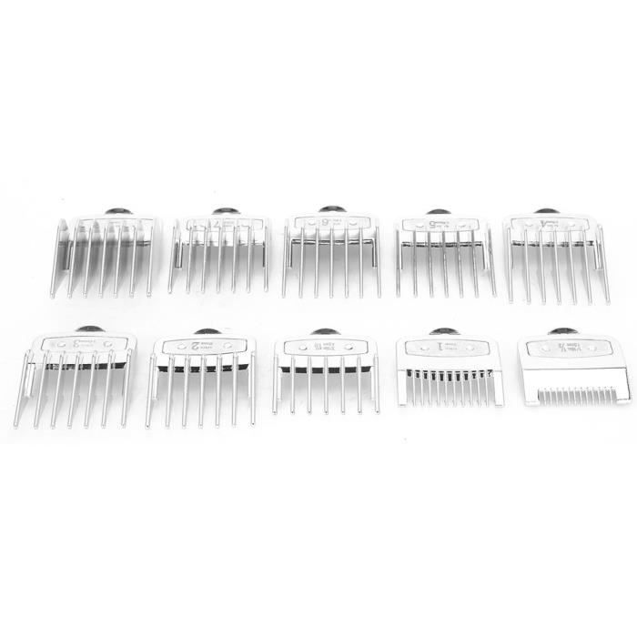 EBTOOLS Peigne guide tondeuse à cheveux 10pcs Peigne de Positionnement de Coupe-Cheveux Peigne Limite Ensemble de Peigne Guide pour