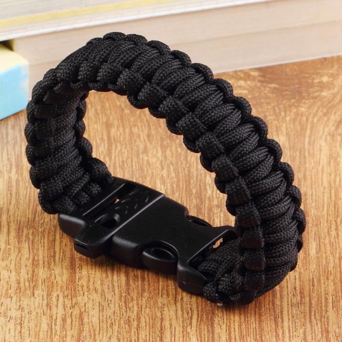 La survie bracelet d'auto-assistance noir