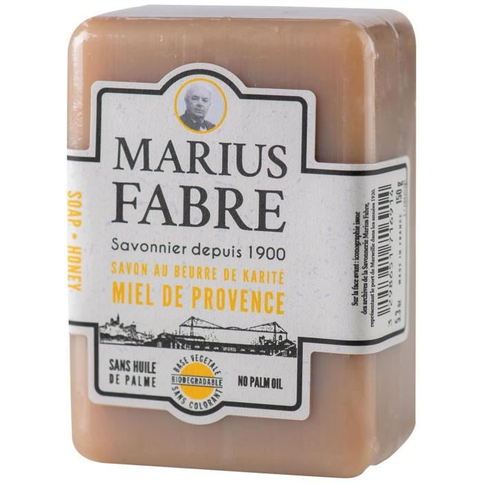 MARIUS FABRE Savonnette miel de provence beurre karité - Sans palme - 150 g