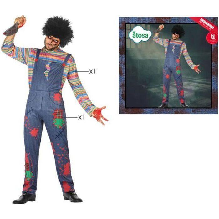 Deguisement - Panoplie De Deguisement - Déguisement tueur Chucky la poupée