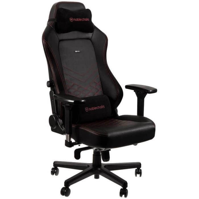 NOBLE CHAIRS Siège gamer Hero Series - Noir et rouge