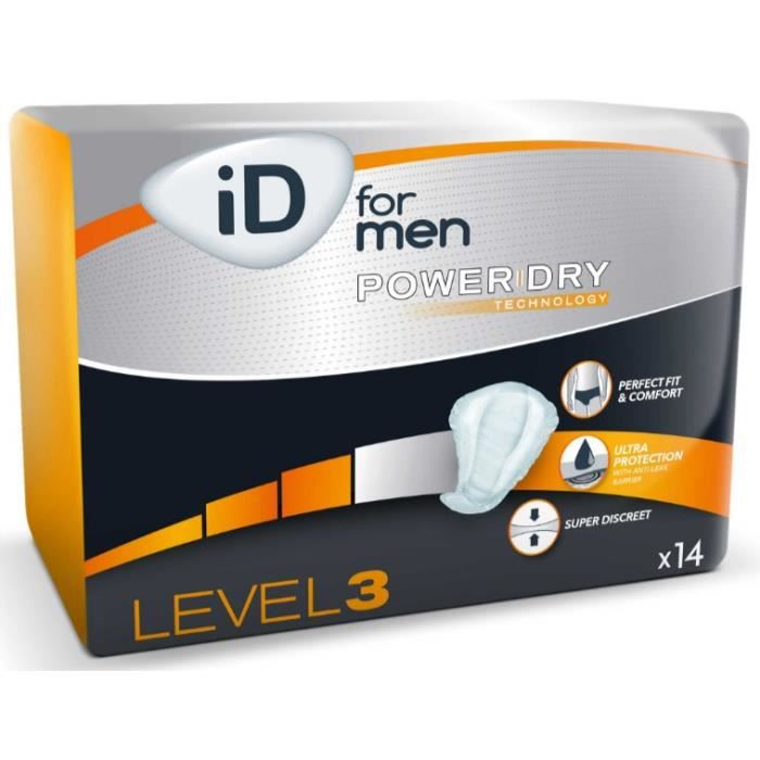 ID For Men Level 3 - Ontex - Protection urinaire pour homme