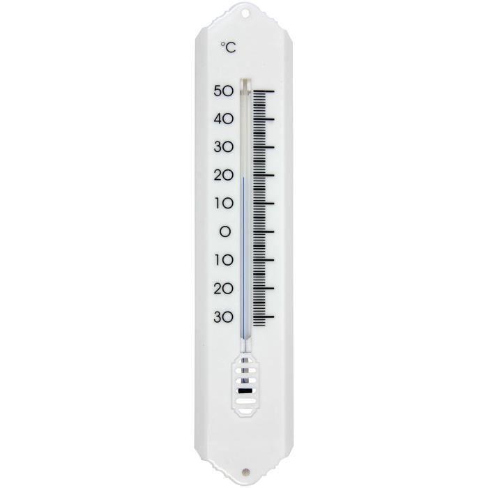 SPEAR & JACKSON Thermomètre plastique 20 cm - Blanc