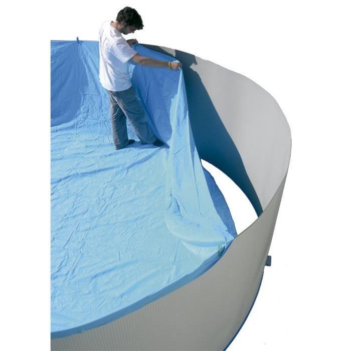 TORRENTE Liner pour piscine circulaire en PVC 550x132cm - Bleu