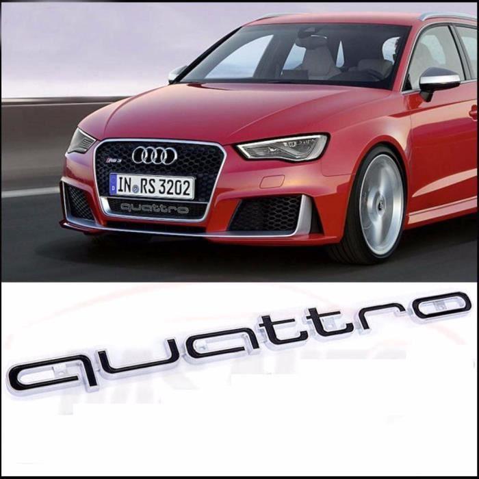 Pour Audi RS5 RSQ3 A4 A6 A8 Q5 Q7 TT R8 QUATTRO ROUGE GRILL BADGE LOGO Emblème