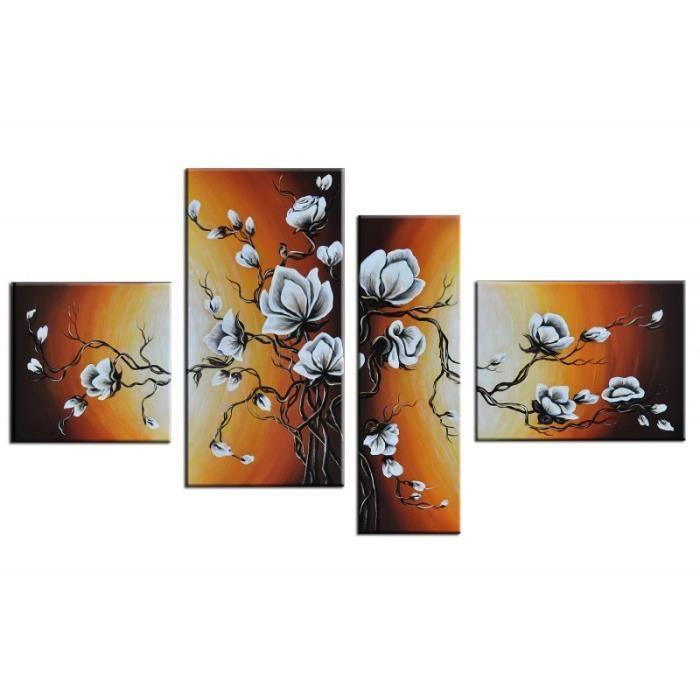 """TABLEAU - TOILE Bilderdepot24 """"fleur M7"""" tableau peinture, sur …"""