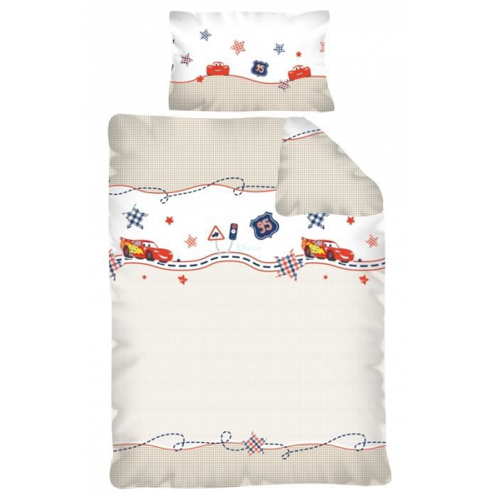 parure de lit cars pour bebe 100 x 135 achat vente. Black Bedroom Furniture Sets. Home Design Ideas