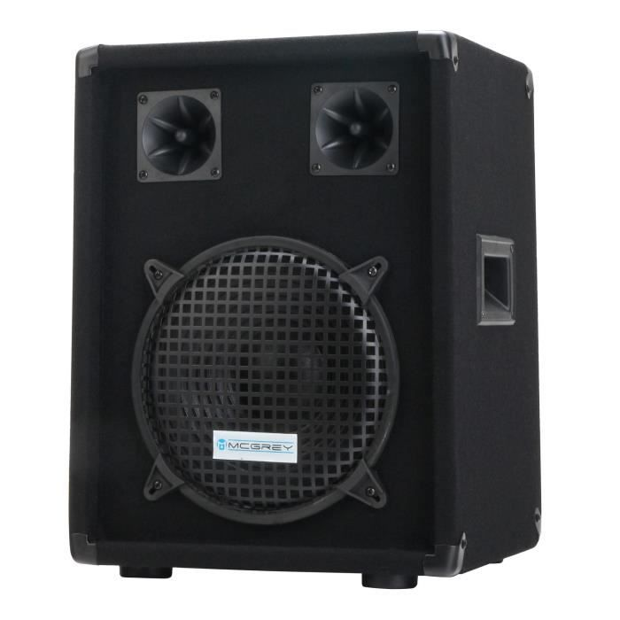 mcgrey dj 1022 enceintes de basement party dj 400w enceinte et retour avis et prix pas cher. Black Bedroom Furniture Sets. Home Design Ideas