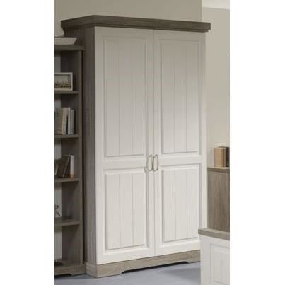 armoire 2 portes 120 cm dominique l 120 x p 62 x h 220 cm achat vente armoire de chambre. Black Bedroom Furniture Sets. Home Design Ideas