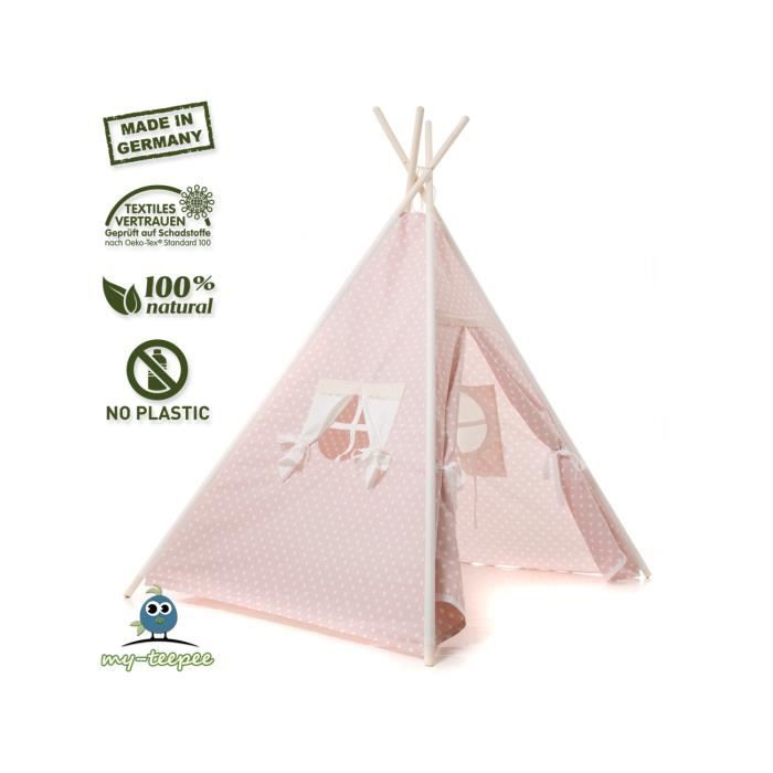 my teepee filles tente tipi oeko tex 100 rose achat. Black Bedroom Furniture Sets. Home Design Ideas