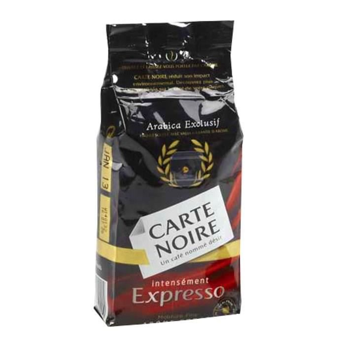 carte noire caf moulu expresso intense 250g achat vente caf moulu carte noire exp intense. Black Bedroom Furniture Sets. Home Design Ideas