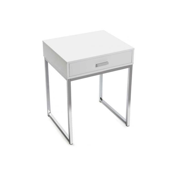 Achat chevêt declikdeco blanche de carré Table pied mene dBoeCxr