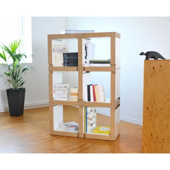 Biblioth Que Modulable 17 Lems Blanche Achat Vente