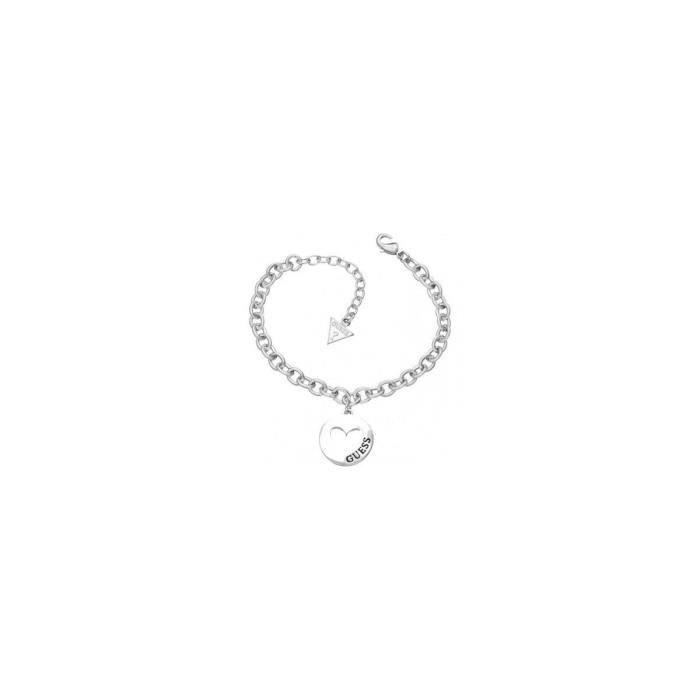 BRACELET - GOURMETTE Bracelet Love Coin En Métal Rhodié Et Son Coeur Gu