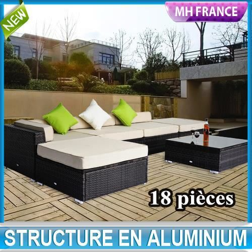 salon de jardin canap d 39 angle r sine tress poly achat vente salon de jardin salon de. Black Bedroom Furniture Sets. Home Design Ideas