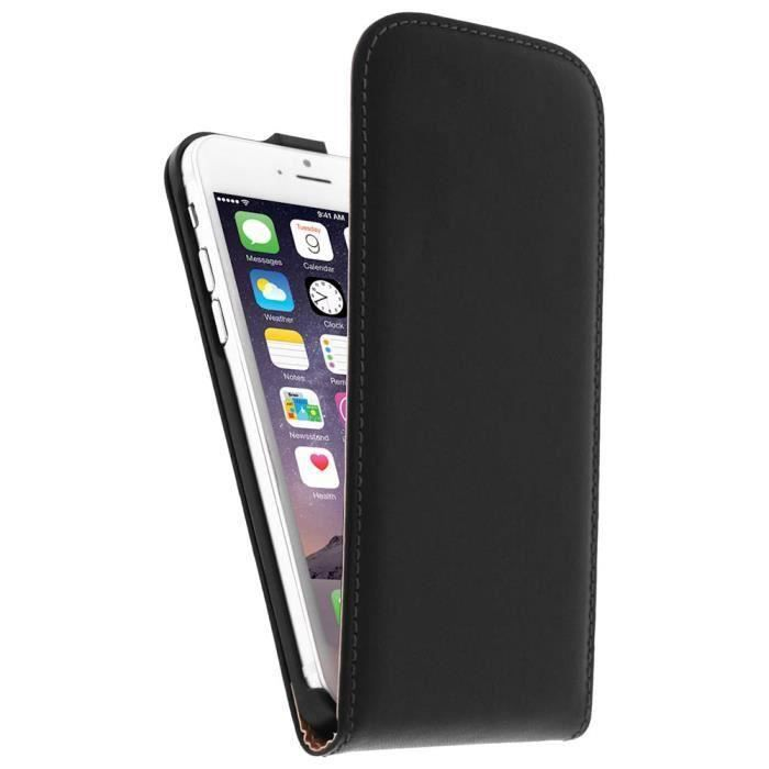 etui coque clapet noir simili cuir iphone 6 6s plus. Black Bedroom Furniture Sets. Home Design Ideas