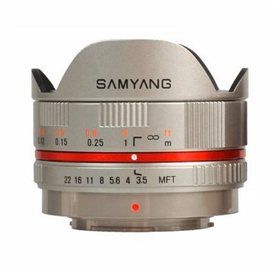 samyang 7 5mm f 3 5 pour capteur micro 4 3 silver achat vente objectif cdiscount. Black Bedroom Furniture Sets. Home Design Ideas