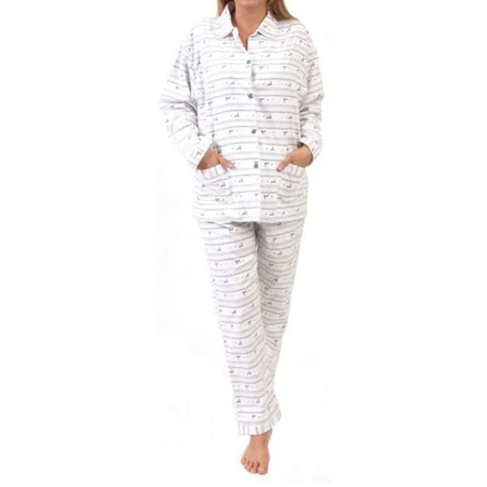 pyjama femme en flanelle achat vente pyjama femme en flanelle pas cher cdiscount. Black Bedroom Furniture Sets. Home Design Ideas