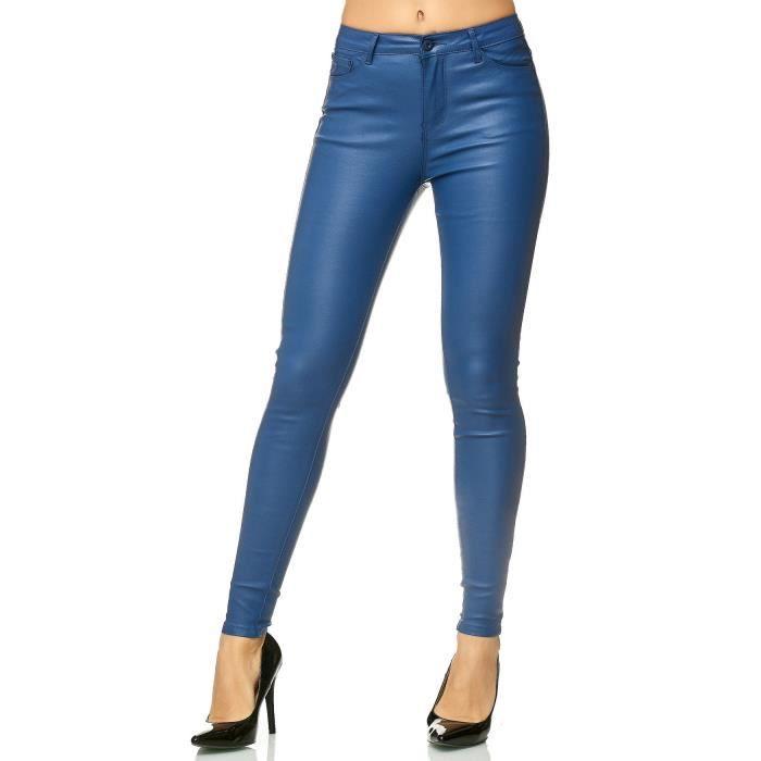 pantalon femme bleu