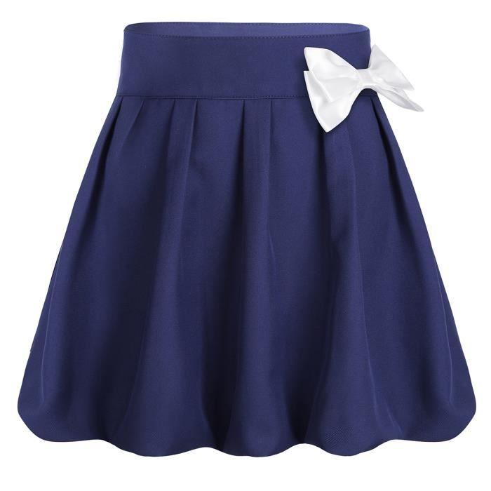 Enfants filles enfants neuf noir bleu marine école jupe de patineuse 7 8 9 10 11 12 13 ans