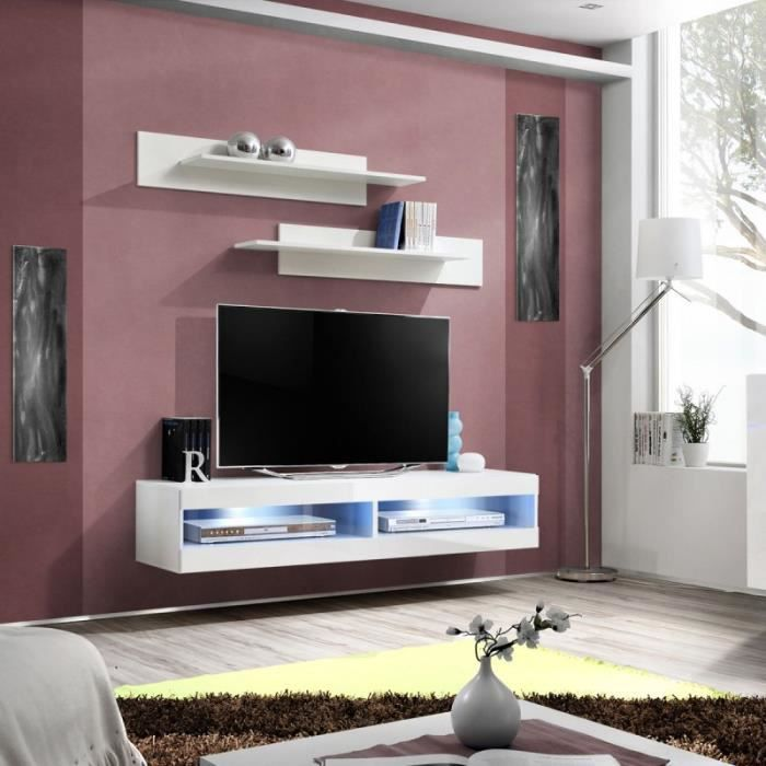 paris prix meuble tv mural design fly ii 160cm blanc