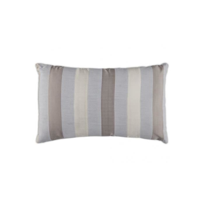 coussin chic 50x30 cm gris claire beige taupe achat vente coussin cdiscount. Black Bedroom Furniture Sets. Home Design Ideas