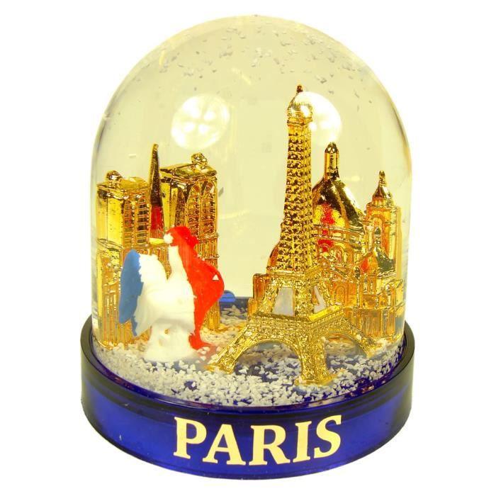 Souvenirs de France Boule /à Neige Paris Verre et R/ésine 14 cm