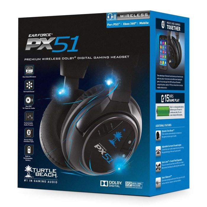 ear force px51 casque gaming premium sans fil pour. Black Bedroom Furniture Sets. Home Design Ideas