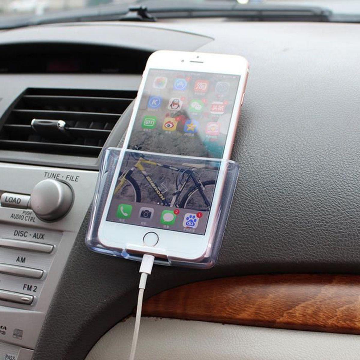 D/écoration dint/érieur de voiture Mini bo/îte de rangement T/él/éphone Porte-verre Organisateur Conteneur Bo/îte