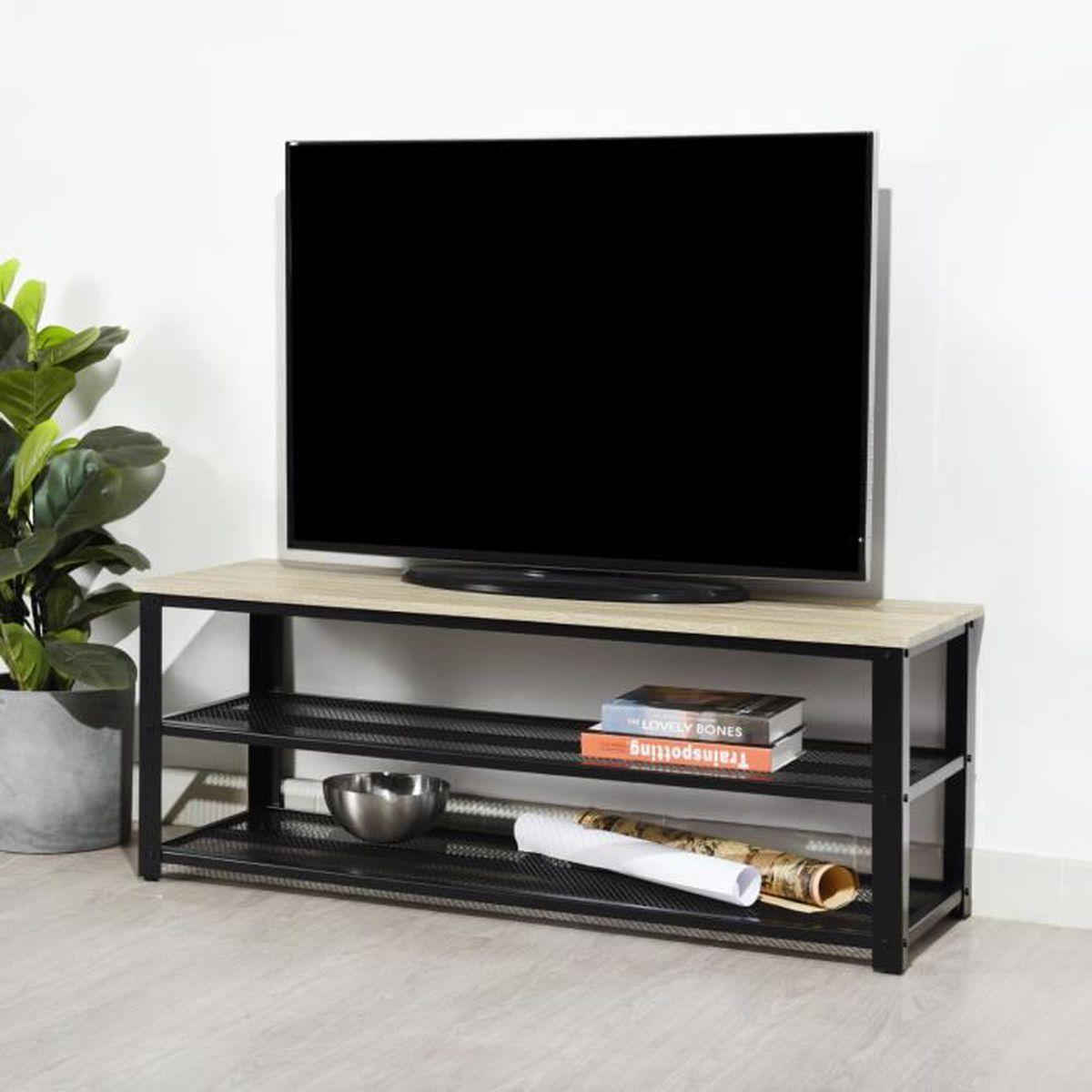 Meuble Tv Angle Suspendu meuble tv noir