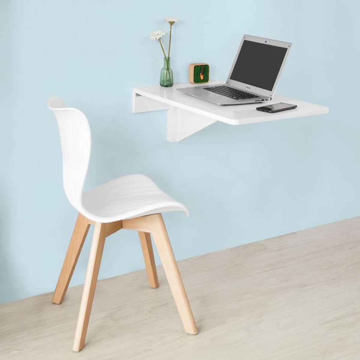 Table Rabattable Pour Cuisine sobuy® fwt04-w table murale rabattable en bois table de